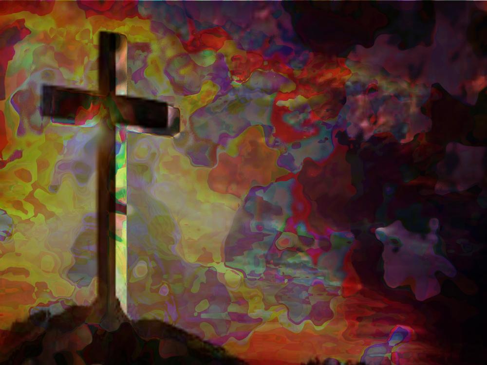 Kreuz auf Hügel 2