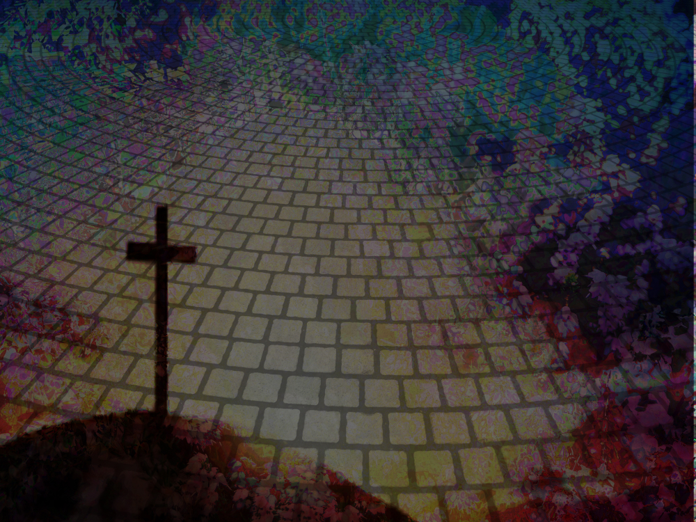 Kreuz auf Pflaster